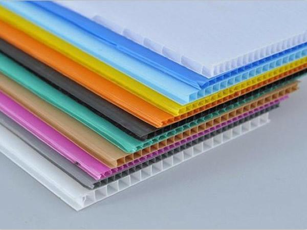 Corrugated plastic product