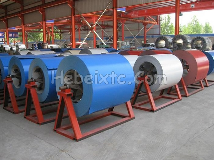 Colorful steel coil