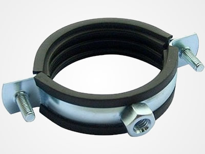Hose clamp with rubber